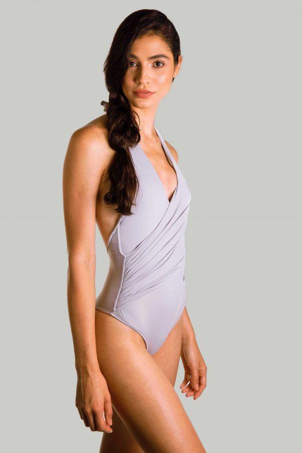 Sustainable swimsuit Kellen grey
